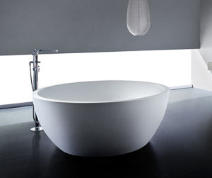 Round Freestanding Bathtub Caststone Cultured Marble Bathtub pictures & photos