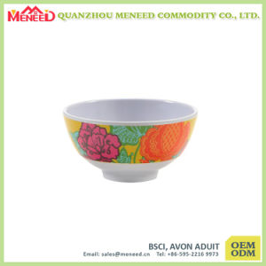 Chinese Style Melamine Porridge Bowl with Lid pictures & photos