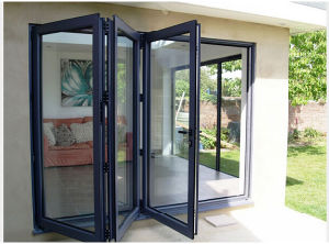 2017 Fashion Design Aluminum Glass Folding Doors, Factory Supply Folding Door Price pictures & photos