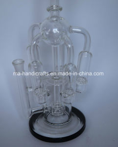 "14"" Hottest Black Boro Glass Bubbler for Smoking pictures & photos"