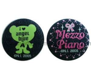 Embroidery Badge with Pin, Embroidery Button Badge Label Pin pictures & photos