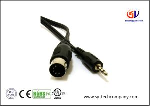 5 Pin DIN Plug to 3.5mm Jack Stereo Plug Audio Cable with 6 Feet pictures & photos