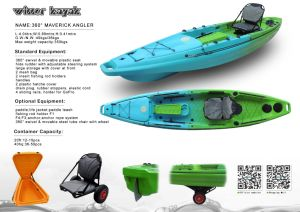 Sliding Rails and Hide Rudder with Adjustable Steering System Kayak. pictures & photos
