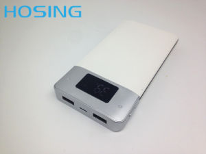 Cheap Portable Two USB Port Polymer Battery 10000mAh Power Bank pictures & photos
