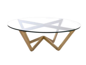 Casa Angle Circular Coffee Table  / Rose Gold Finish/ Home Living Room Coffee Table pictures & photos