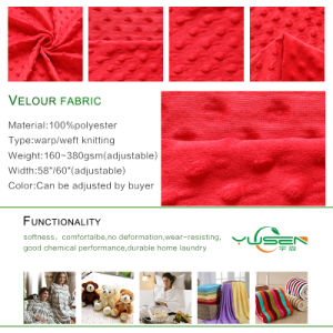 Healthy Warp Knitting 3mm Bubble Embossed Velboa Fabric for Baby pictures & photos