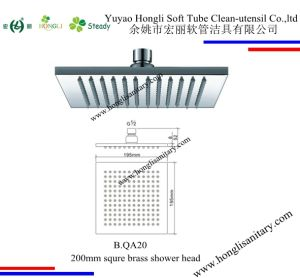 B. QA20 Square 20*20cm Brass Shower Head in Chrome Plated pictures & photos