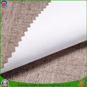 Home Textile Woven Upholstery Fabric Polyester Waterproof Fr Flocking Blackout Fabric for Curtain and Sofa pictures & photos