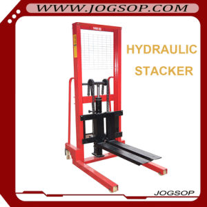 Hand Manual Hydraulic Stacker Hand Pallet Stacker pictures & photos