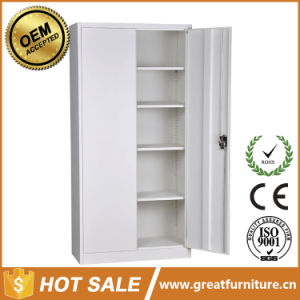 Cheap Storage 2 Doors /5 Tiers Filing Cabinet/Metal Steel Chest/Stainless Storage Cupboard pictures & photos