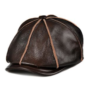 Leather Baker Boy Gatsby Hat pictures & photos