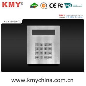 Waterproof Metal Keypad with Display (KMY3502H-YJ) pictures & photos