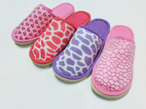 Ladies Warm Winter Indoor Comfort Nice Soft Slipper with Different Style pictures & photos