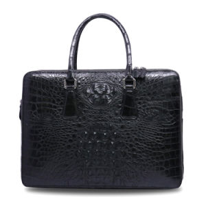 Men Genuine Crocodile Leather Computer Bag Luxury Laptop Business Briefcase pictures & photos