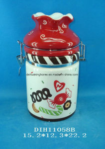 Hand-Painted Ceramic Airtight Canister pictures & photos