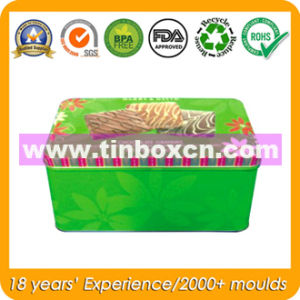 Rectangular Tin Box for Kids, Metal Tin Biscuit Cookie Can pictures & photos