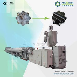 Plastic Extrusion Line for Making HDPE/PP/LDPE/PPR/Pert/PE Pipe pictures & photos