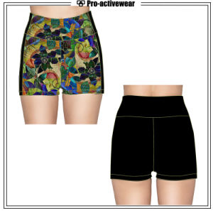 Wholesale Custom Sublimated Womens Gym Shorts pictures & photos