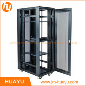 Constant Temperature 19 Inch Server Rack in Orange Color with Double Vented Rear Door Perforated Mesh Cabinet