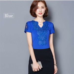 Blusa Lace Blouses Shirts Women Tops Tees White Lace Blouse Cotton Plus Size Shirts pictures & photos