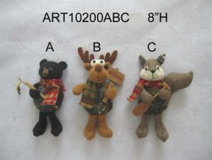 Woodland Christmas Decoration Ornament, Bear Moose and Squirrel pictures & photos