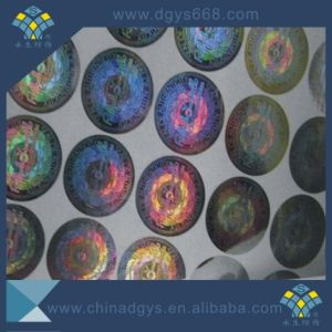 Custom Design Security Green Laser Hologram Sticker pictures & photos