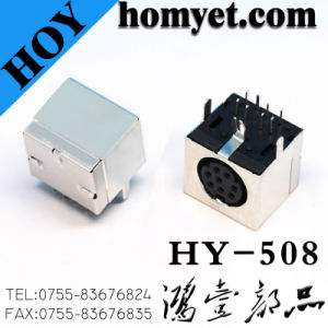 Mini 6p DIN Socket Separate Video Connector S Terminal (HY-506T) pictures & photos