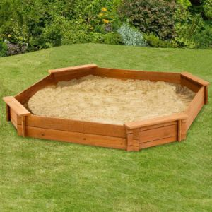 Popular Playset Sandpit Kids Sand Pit Wooden (04)