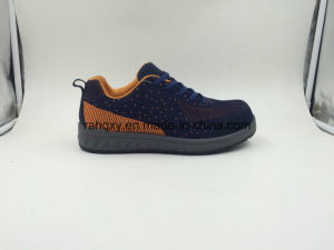Sports Style Strong Wearable Fabric Flyknit Safety Working Shoes (16039) pictures & photos
