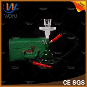 Glass Shisha Smoking Pipes with Leather Box Hookah pictures & photos