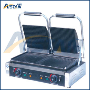 Eg813 Electric Double Plate Panini Grill Machine pictures & photos