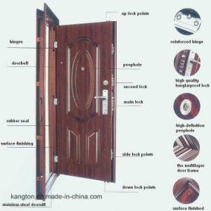 Anti Theft Steel Security Doors Designs for Sale (iron door) pictures & photos
