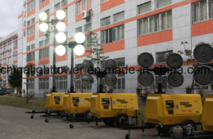 Hydraulic Single Axel Versatility Diesel Mobile Light Tower pictures & photos