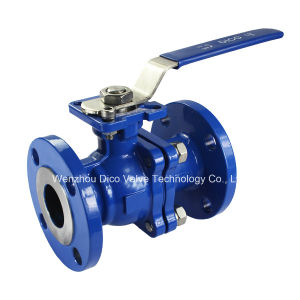 Carbon Steel Flange Full Bore Ball Valve with Locking Handle pictures & photos