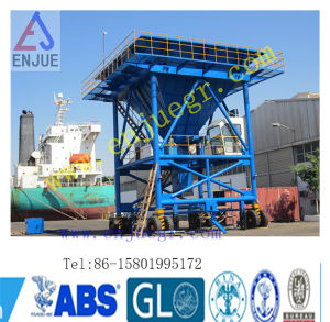 Rubber Tyred Hopper for Truck to Discharging Bulk Cargo pictures & photos