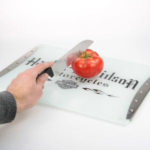 Silk Screen Printing Glass Cutting Board, Chopping Board pictures & photos