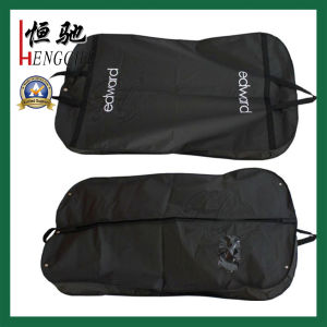 Dustproof Garment Bags Transparent PE Suit Cover with Strong Belt Handle pictures & photos