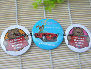 Wholesale Custom Cartoon Round Tin Button Badge pictures & photos