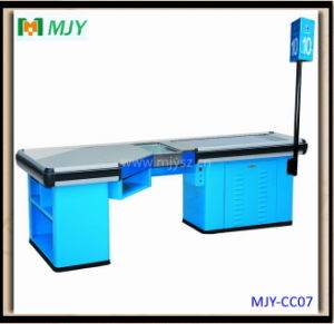 American Checkout Counters with Conveyor Belt Mjy-Cc07 pictures & photos