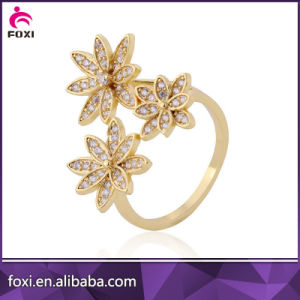 China Wholesale Gold Plated CZ Fashion Rings pictures & photos