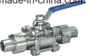 3PC Type Welded Ball Valve. 3 pictures & photos