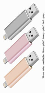 OTG 16g/32g/64G USB Flash Drive for iPhone/iPad/iPod pictures & photos