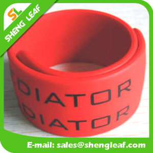 Silicone Slap Bracelet with Printing Logo pictures & photos