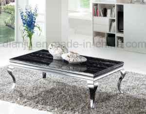 Black Marble Top Stainless Steel Modern Coffee Table (CT8037L) pictures & photos