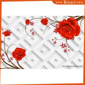 Pink Rose Design 3D Flower Oil Painting for Home Decoration pictures & photos
