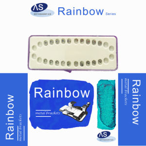 Orthodontic MIM Low Profile Mesh Base Metal Brackets with 345hooks pictures & photos