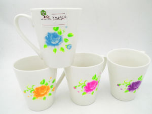 Flower Surface 11oz White Ceramic Mug pictures & photos