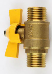 Male Thread Brass Butterfly Gas Ball Valve pictures & photos
