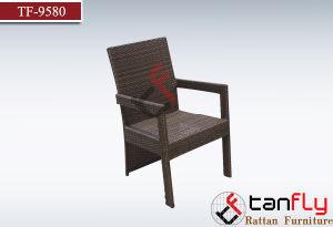 Elegant Brown Wicker Outdoor Garden Rattan Chair