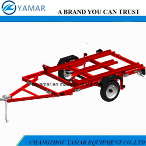 Utility Folding Trailer with Rail pictures & photos